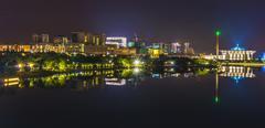 Putrajaya cityscape at night, malaysia Stock Photos