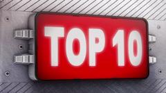 Top 10. Looping. Stock Footage
