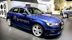 Audi A3 Sportback g-tron Stock Footage
