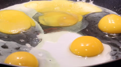 Poached egg. Fried Egg Stock Footage
