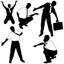 Stock Illustration of Business Silhouettes