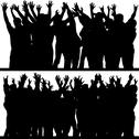 Stock Illustration of Hands Up Silhouettes