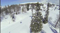 AERIAL: Ski resort Stock Footage