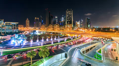 City night crossroad timelapse FullHD - stock footage