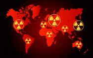 Stock Illustration of World Map Nuclear Waste Radioactive Hazard Zone
