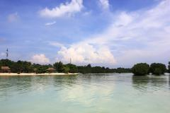 Beach in Pari Island - stock photo