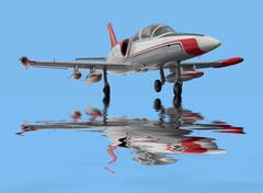 Aircraft on water surface Stock Photos