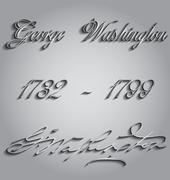 george washington - stock illustration