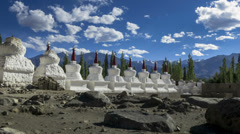 Thiksey monestary stupas Ladakh time lapse Stock Footage