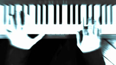 Hands On Piano Blue 720p Stock Footage