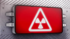 Radiation. Looping. Stock Footage