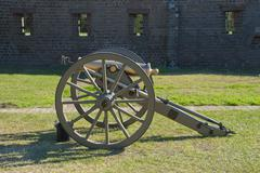 brass civil war howitzer - stock photo