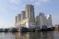 Port of Muara Angke North Jakarta - stock photo