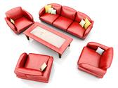Stock Illustration of living room furniture.