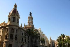 historic architecture in valencia. - stock photo
