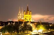 Stock Photo of cologne at night