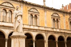 ancient statue in verona.. - stock photo