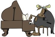 Moose pianist Stock Illustration