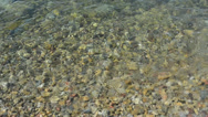 Stock Video Footage of Pebble under clean water
