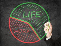life/ work balance - stock photo
