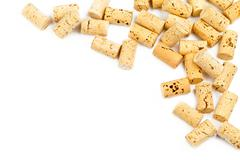 wine cork border - stock photo