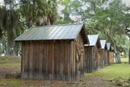 Stock Photo of fort mcallister enlisted quarters