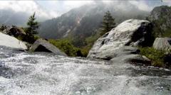 underwater camera in mountain stream - stock footage