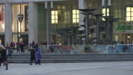 Stock Video Footage of 065 Berlin, People walking on Alexanderplatz