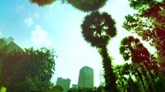 Kuala Lumpur City Centre Park Time Lapse Stock Footage