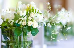 Stock Photo of beautiful bouquet of white roses
