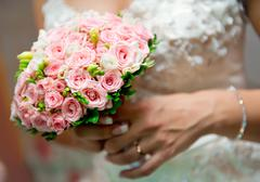 Beautiful bridal bouquet close-up Stock Photos