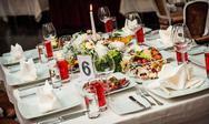 Stock Photo of luxury banquet table setting at restaurant