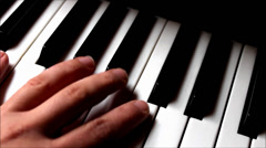 Stock Video Footage of Piano playing top close up