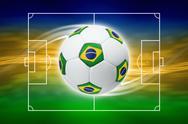 Soccer background Stock Illustration