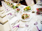 Stock Photo of luxury banquet table setting in restaurant