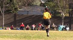 Soccer football, referee Stock Footage