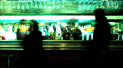 Night club bar scene Stock Footage
