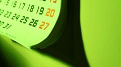 Calendar Stock Footage