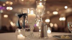 Wedding Table Setting Stock Footage