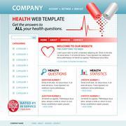 Medical health internet website template Stock Illustration