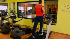 Treadmill. Man at the gym. Stock Footage