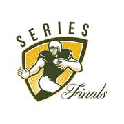 Stock Illustration of american football series finals shield.