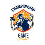 american football championship game finals shield. - stock illustration