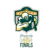 american football championship game finals qb. - stock illustration