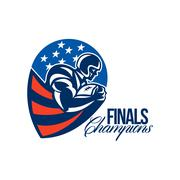 Stock Illustration of american football finals champions retro.