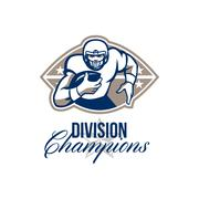 American football runningback division champions. Stock Illustration