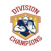American football division champions shield. Stock Illustration