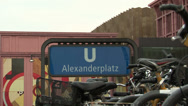 Stock Video Footage of 066 Berlin, Sign on Alexanderplatz