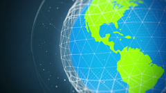Global communication network looped high defenition - normal version - close up Stock Footage