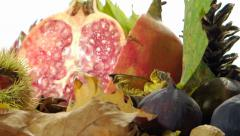 Autumn food Stock Footage